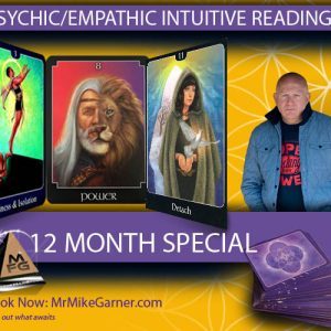 12 months of Psychic Empathic Life and/or Business Guidance with Support.